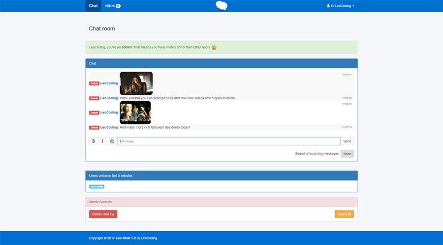 Admin chat scripts