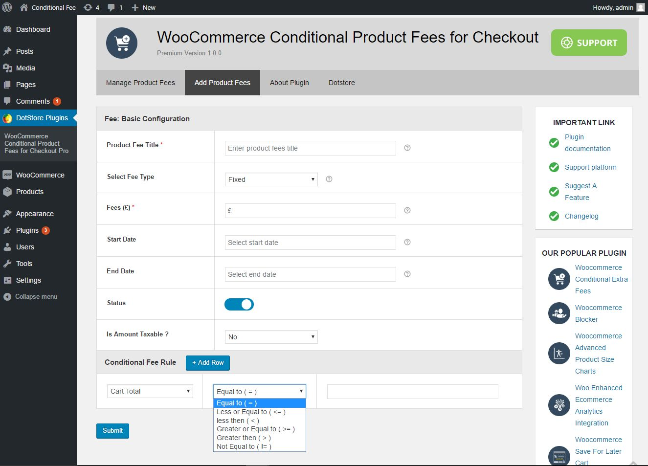 how to set woocommerce quantity rule for each product