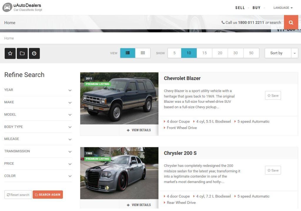uAutoDealers - Auto Classifieds And Dealers Script Screenshot 10