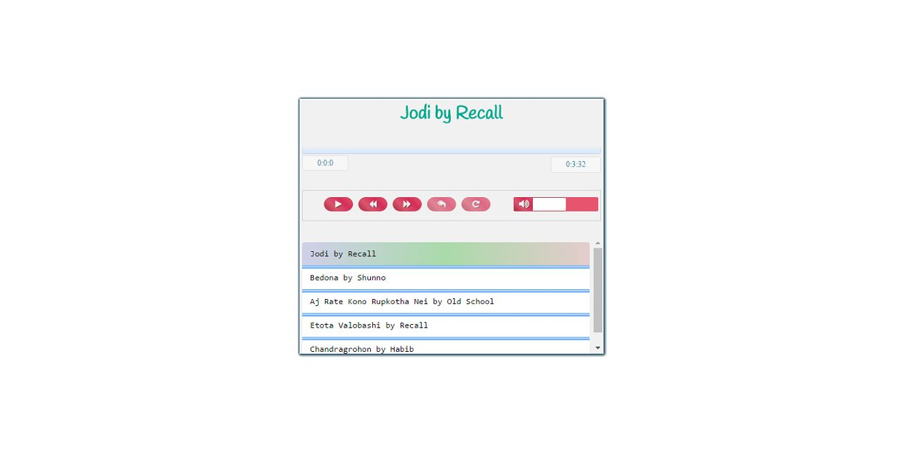 AA Audio Player - Javascript jQuery Audio Player Screenshot 1
