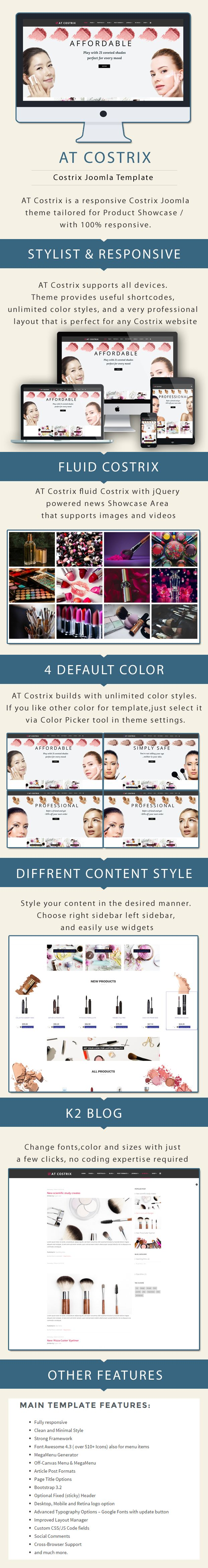 AT Costrix - Cosmetics Virtuemart Joomla Template Screenshot 1