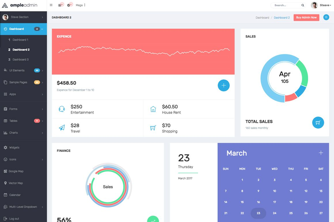 ample admin the ultimate dashboard template html admin website templates codester. Black Bedroom Furniture Sets. Home Design Ideas