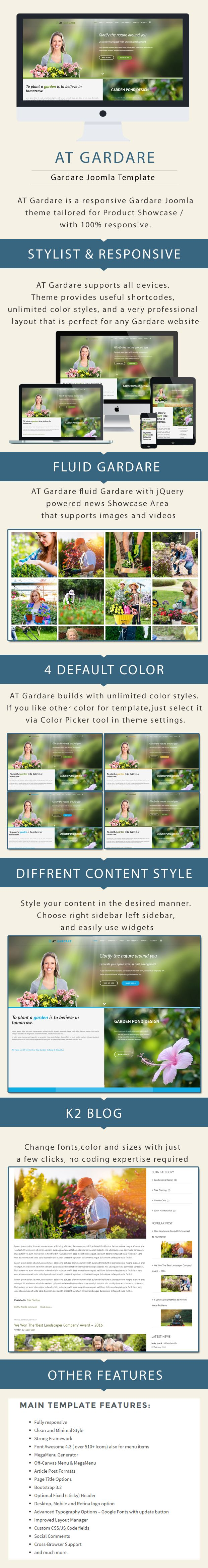 AT Gardare - Responsive Garden Joomla template Screenshot 1