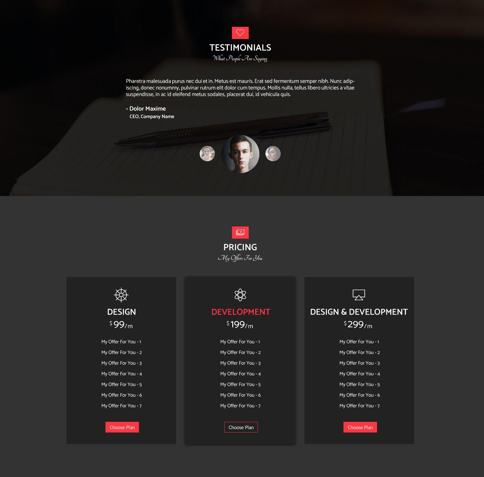 Resume - Personal Portfolio Web Template - HTML Resume Website ...