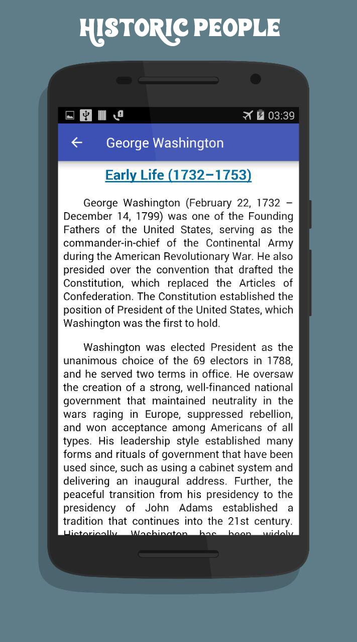 American History App Android Source Code Screenshot 1