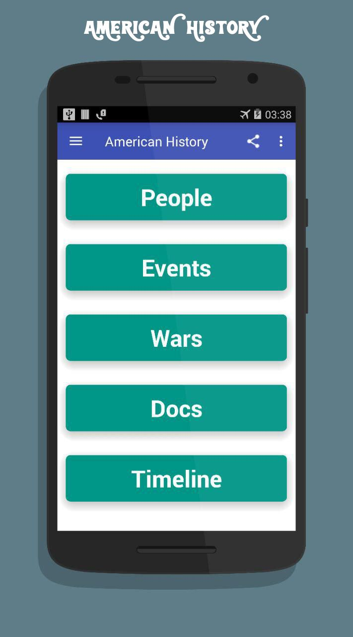 American History App Android Source Code Screenshot 2