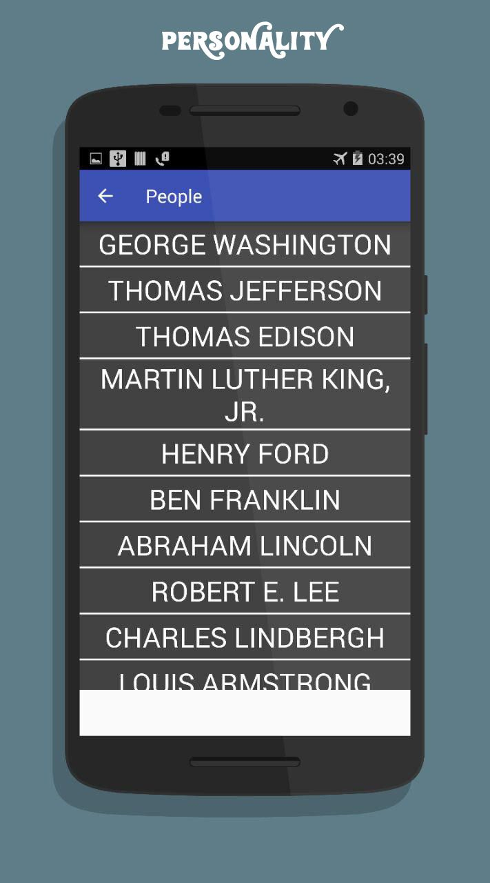 American History App Android Source Code Screenshot 4