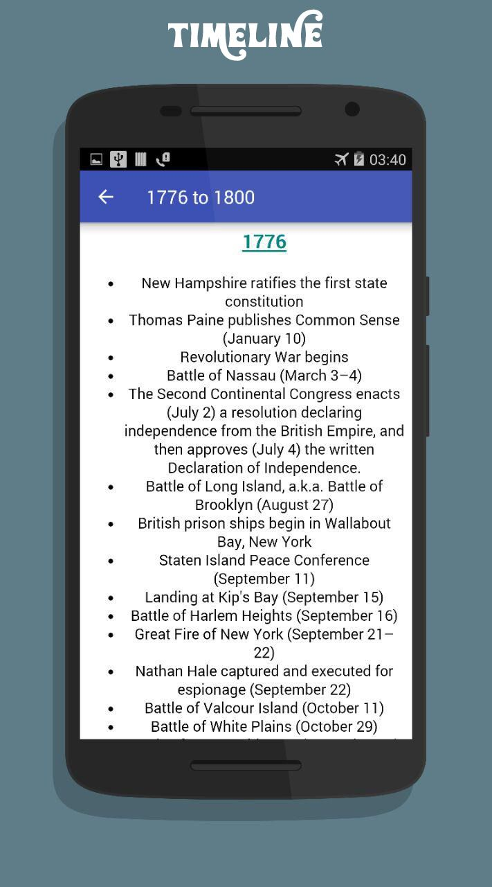 American History App Android Source Code Screenshot 6