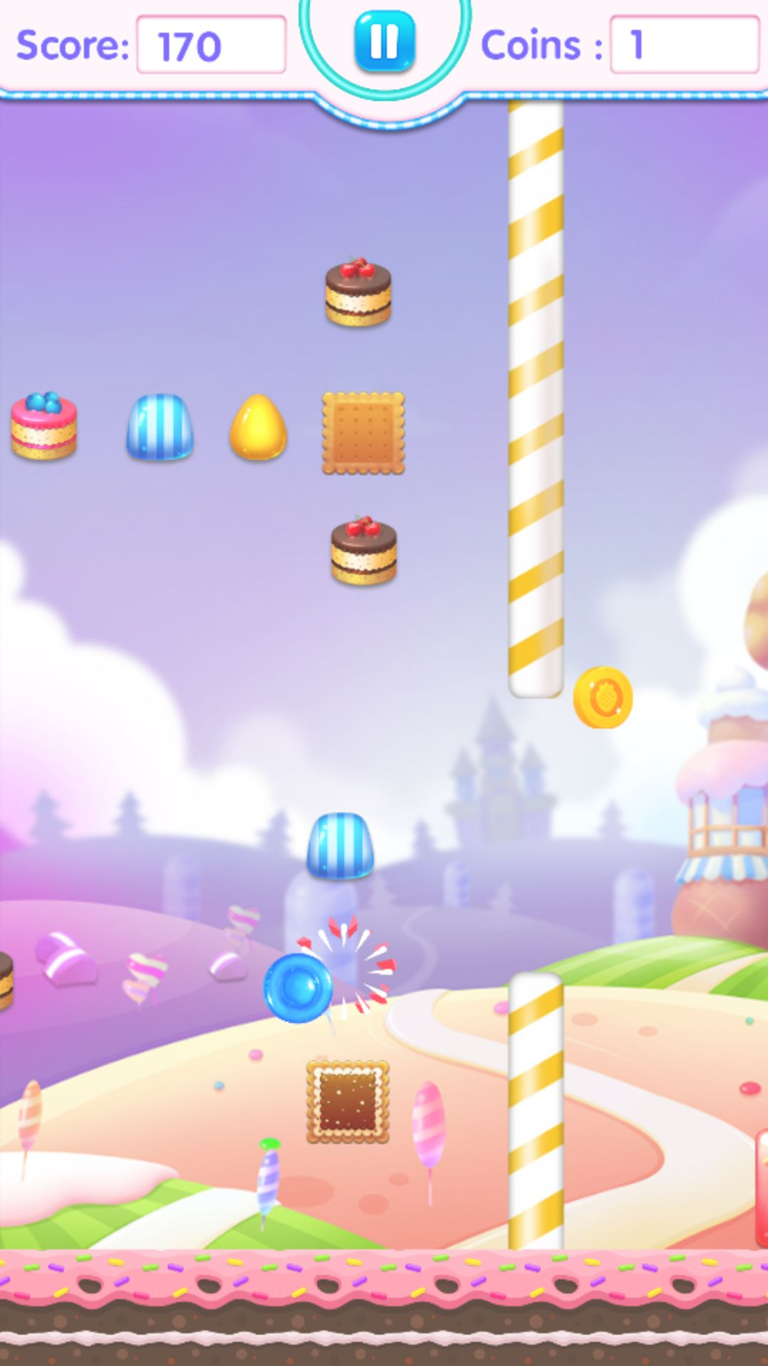 Candy Jump Android Source Code Screenshot 2