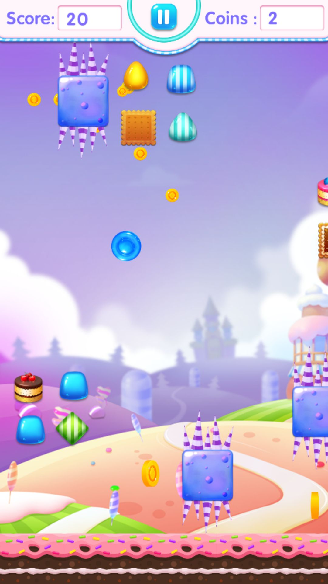 Candy Jump Android Source Code Screenshot 4