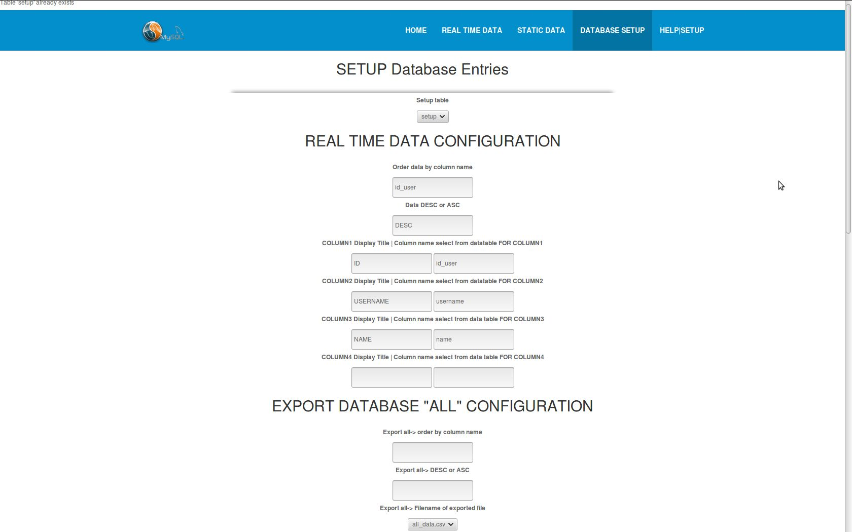 SQL Real time Data Display And Export Script Screenshot 5