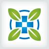 leaves-medical-cross-logo-template
