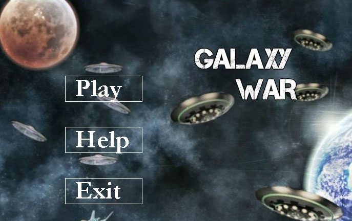 Galaxy War - Java Game Source Code Screenshot 1