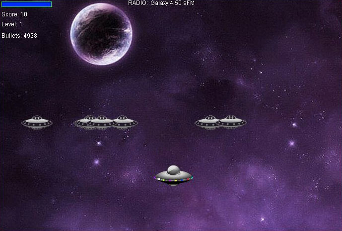 Galaxy War - Java Game Source Code Screenshot 2