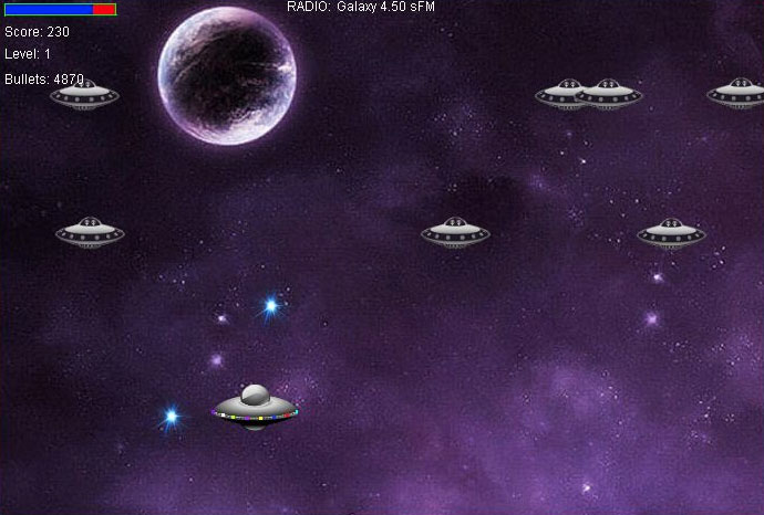 Galaxy War - Java Game Source Code Screenshot 3