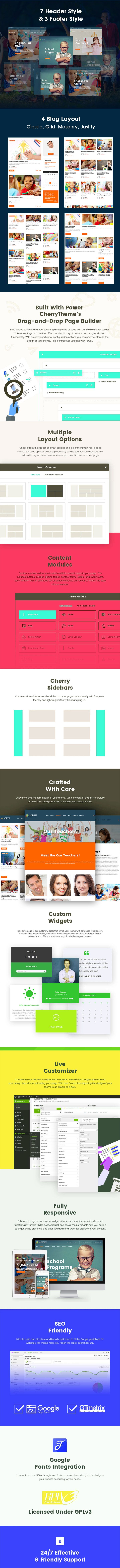 Grow Up Primary School WordPress Theme Screenshot 1