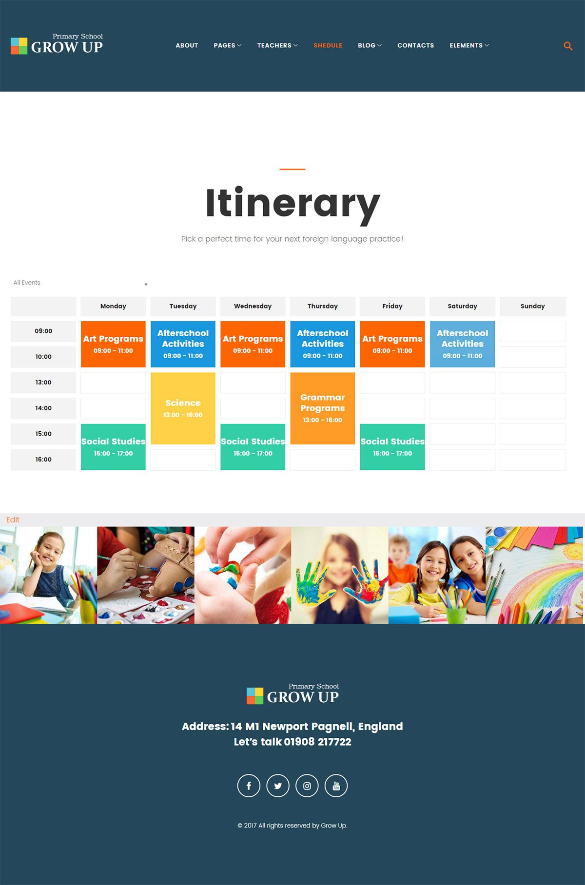Grow Up Primary School WordPress Theme Screenshot 5