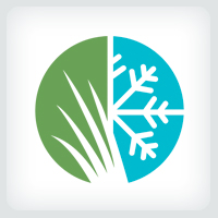 Lawn and Snow Removal Services Logo Template