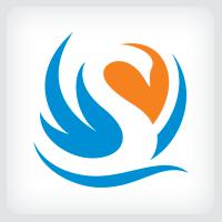 Swan Lake Logo Template