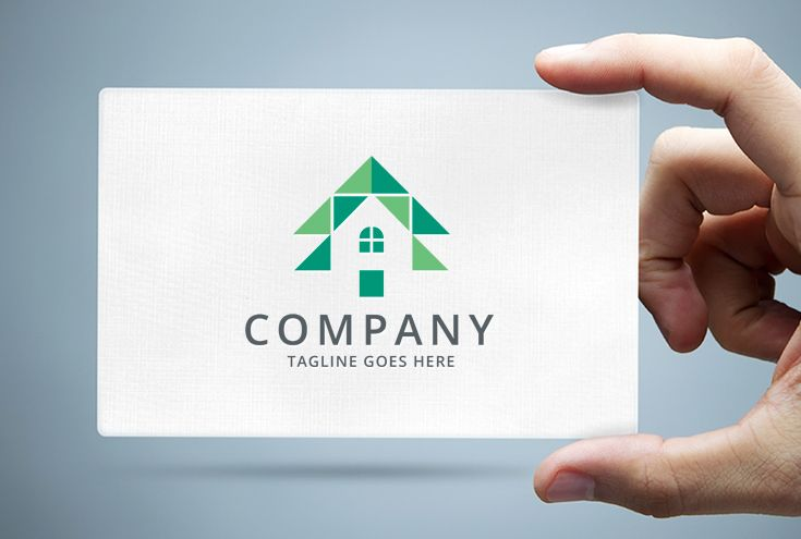 Pine Tree House Logo Template Screenshot 1