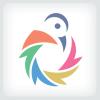 Colorful Shutter Bird Logo Template