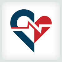 Heart Beat - Electrocardiography Logo