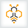 hexagon-bee-logo-template