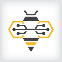 Circuit Bee Logo Template