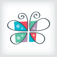 Butterfly Gift Box Logo Template