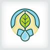 hydroponics-farming-logo-template