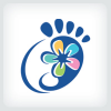 foot-and-flower-logo-template