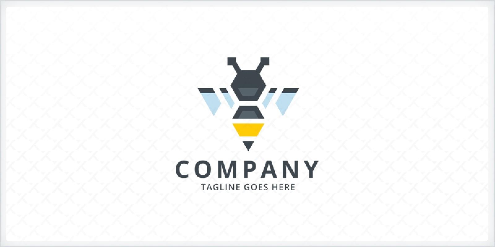 Pen Bee Logo Template by Zixlo | Codester