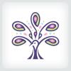 peacock-tree-logo-template