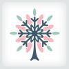 snowflake-tree-logo-template