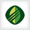 Stylized Leaf Logo Template