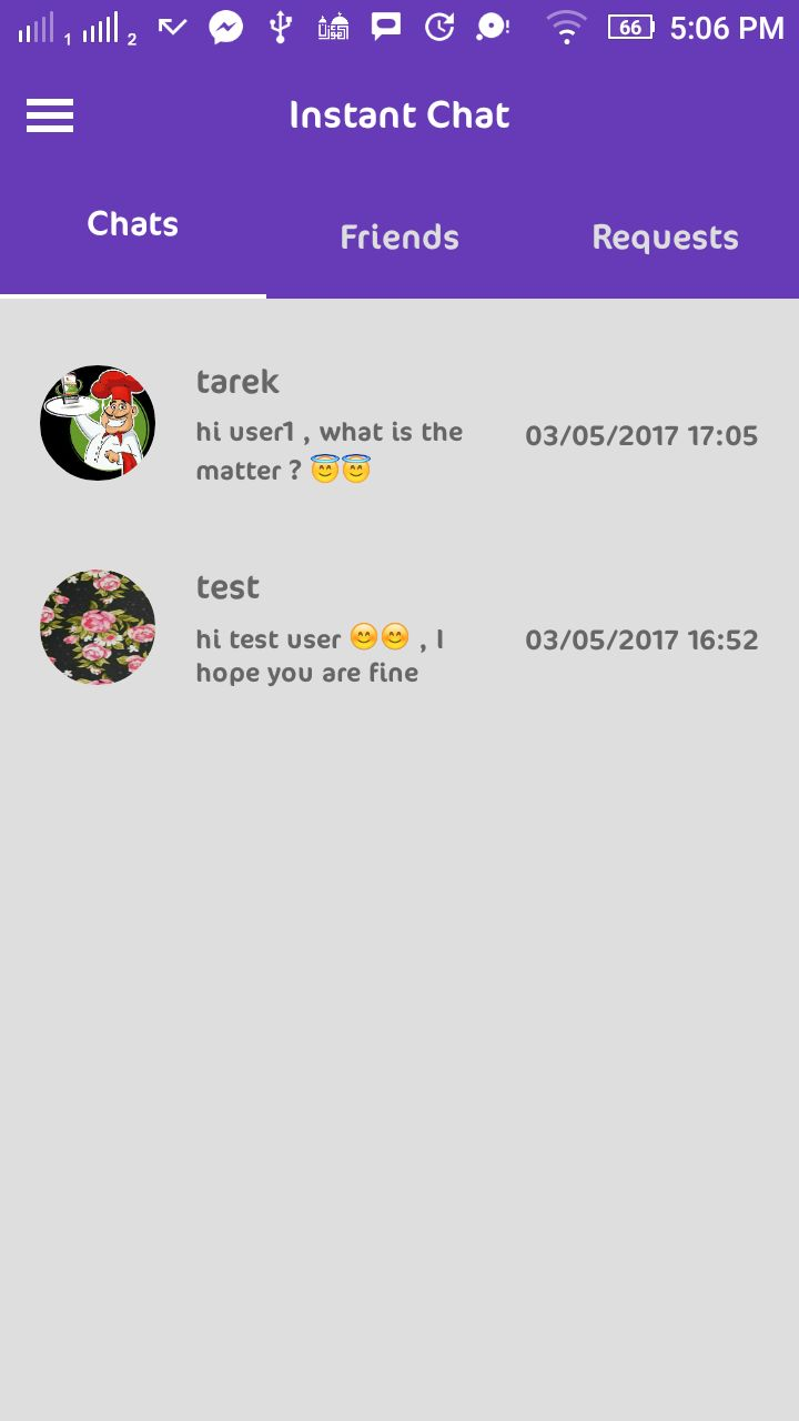 Instant Chat - Android Source Code And PHP Backend Screenshot 4