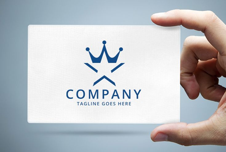 Star and Crown Logo Template Screenshot 1