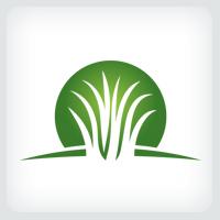 Artificial Grass Logo Template
