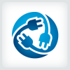 Electrical Plug Logo Template