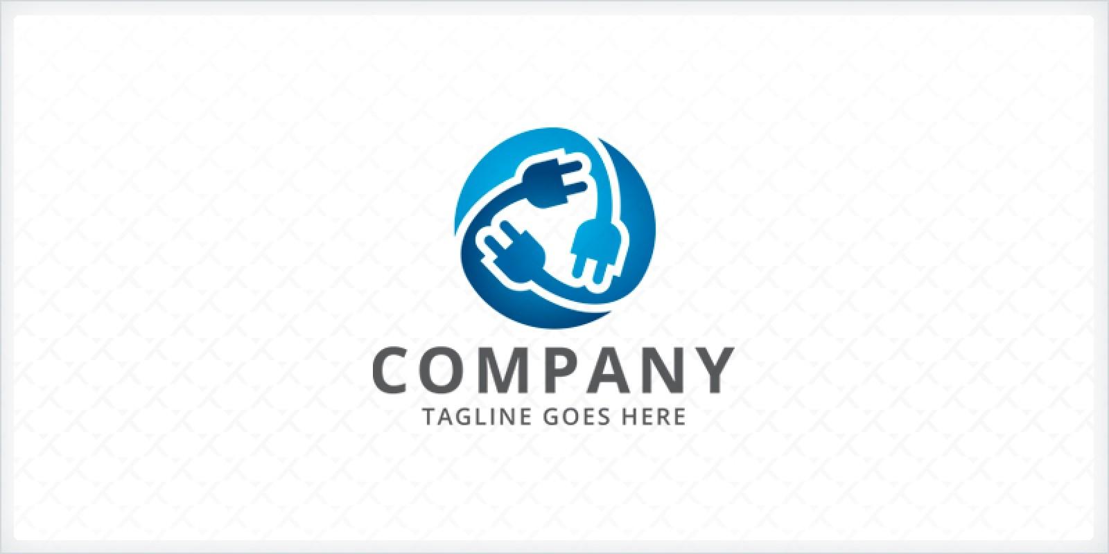 electrical plug logo template miscellaneous logo