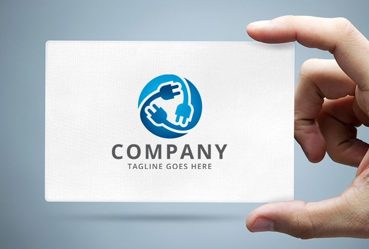 Electrical Plug Logo Template Screenshot 1