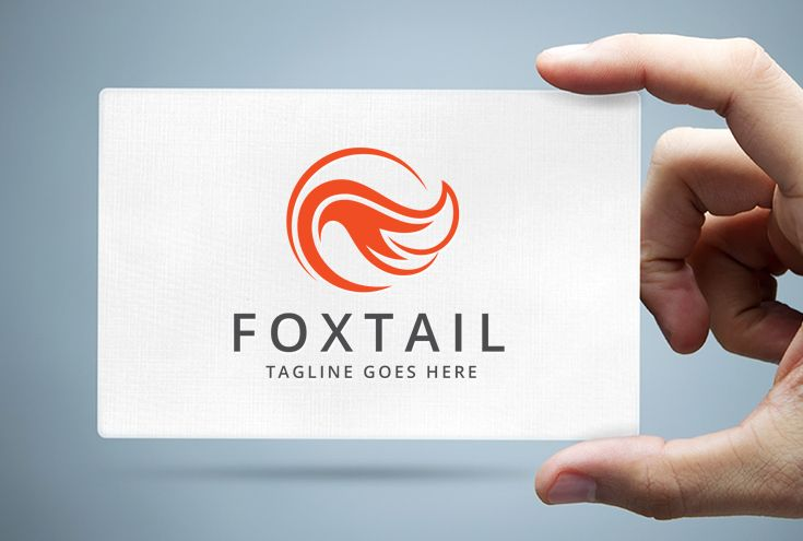 Fox Tail Logo Template Screenshot 1