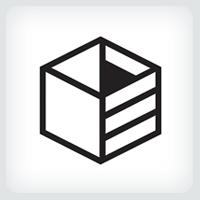 White Box Logo Template