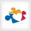 puzzle-people-and-heart-logo-template