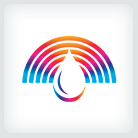 Spectrum Water Droplet Logo Template
