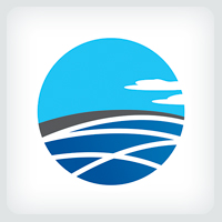 Mediterranean Sea Logo Template