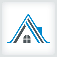 Letter A Home - Real Estate Logo Template