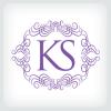 ks-letter-logo-template