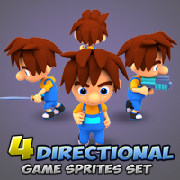 4-Directional Game Character Sprites