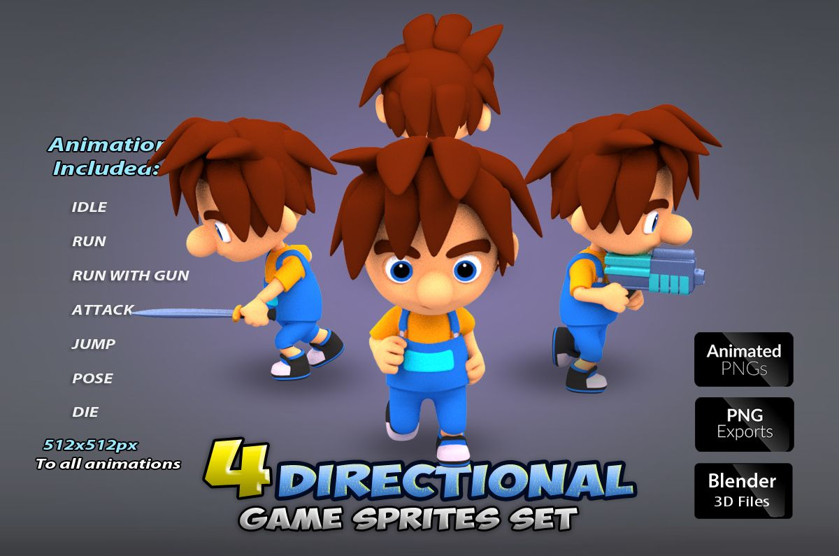 4-Directional Game Character Sprites Screenshot 1